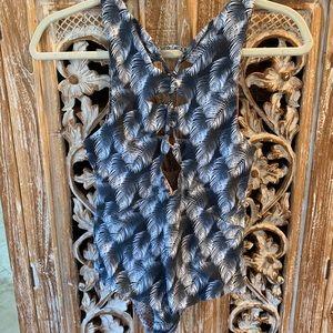 Acacia Swimwear: Mauka Full Piece in Night Palm